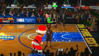 NBA JAM On Fire Edition Santa Slammers vs. Miami Heat