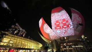 Panasonic Projectors Add Dynamism at i Light Marina Bay 2014 in Singapore #ilightmarinabay