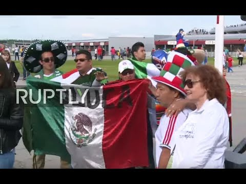LIVE: Fans flood Kazan Arena ahead of Confederations Cup match between Russia and Mexico