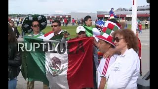 LIVE  Fans flood Kazan Arena ahead of Confederations Cup match between Russia and Mexico