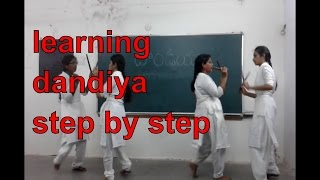 learning dandiya step by step