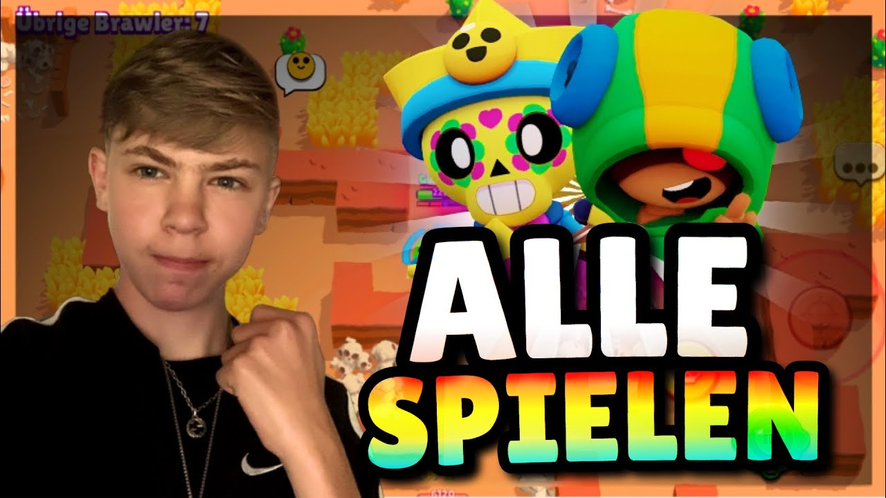 ALLE 38 BRAWLER IN EINEM VIDEO SPIELEN! 😨 Brawl Stars Deutsch
