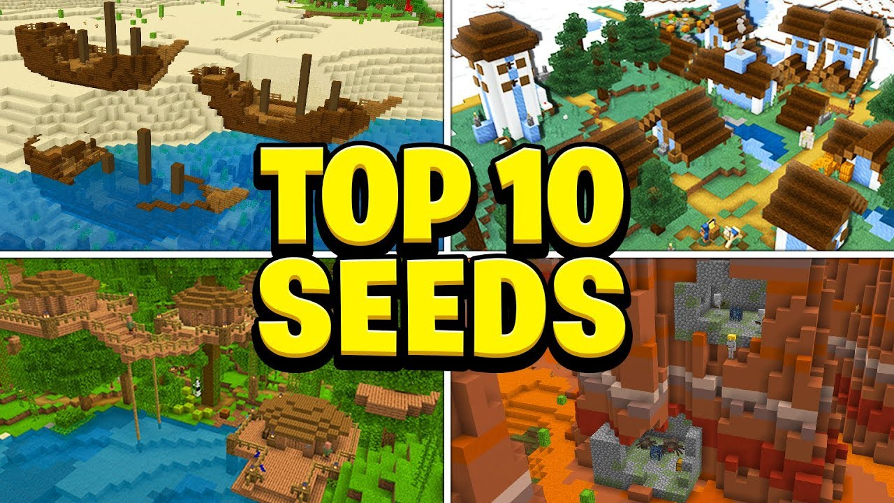 TOP 8 BEST SEEDS For Minecraft! (Pocket Edition, PS8, Xbox, Switch, PC)