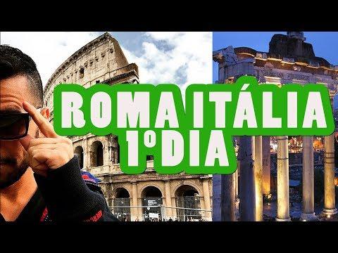 MEU PRIMEIRO DIA EM ROMA ITÁLIA