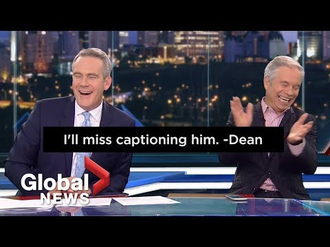 Closed Captioner Sends Farewell Message To Global News Anchor On-air