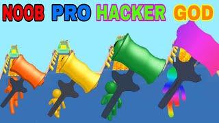 NOOB VS PRO VS HACKER VS GOD  in  Giant Hammer screenshot 1