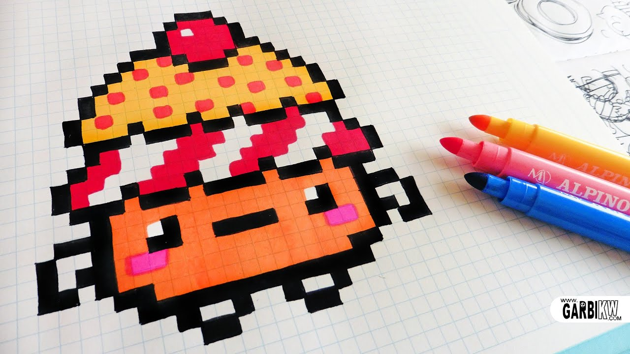 Minecraft Pixel Art Pizza