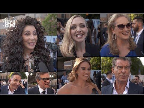 Mamma Mia! Here We Go Again Premiere Interviews - Cher, Meryl Streep, Colin Firth, Pearce Brosnan
