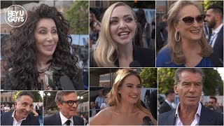 Mamma Mia! Here We Go Again Premiere Interviews - Cher, Meryl Streep, Colin Firth, Pearce Brosnan