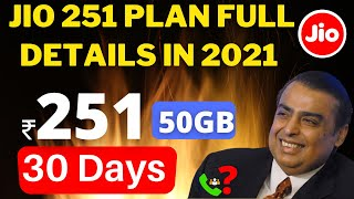 Jio 251,151,201Recharge Full Details In 2021 Jio Work From  Home Plan Calling Details