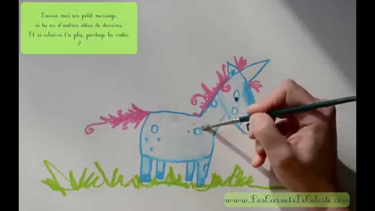 Comment dessiner une licorne - YouTube