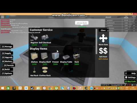 Roblox/Retail Tycoon 1.1.5/ hack how to give People money and my tycoon