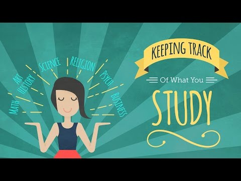 How to Keep Track of What You Study - YouTube