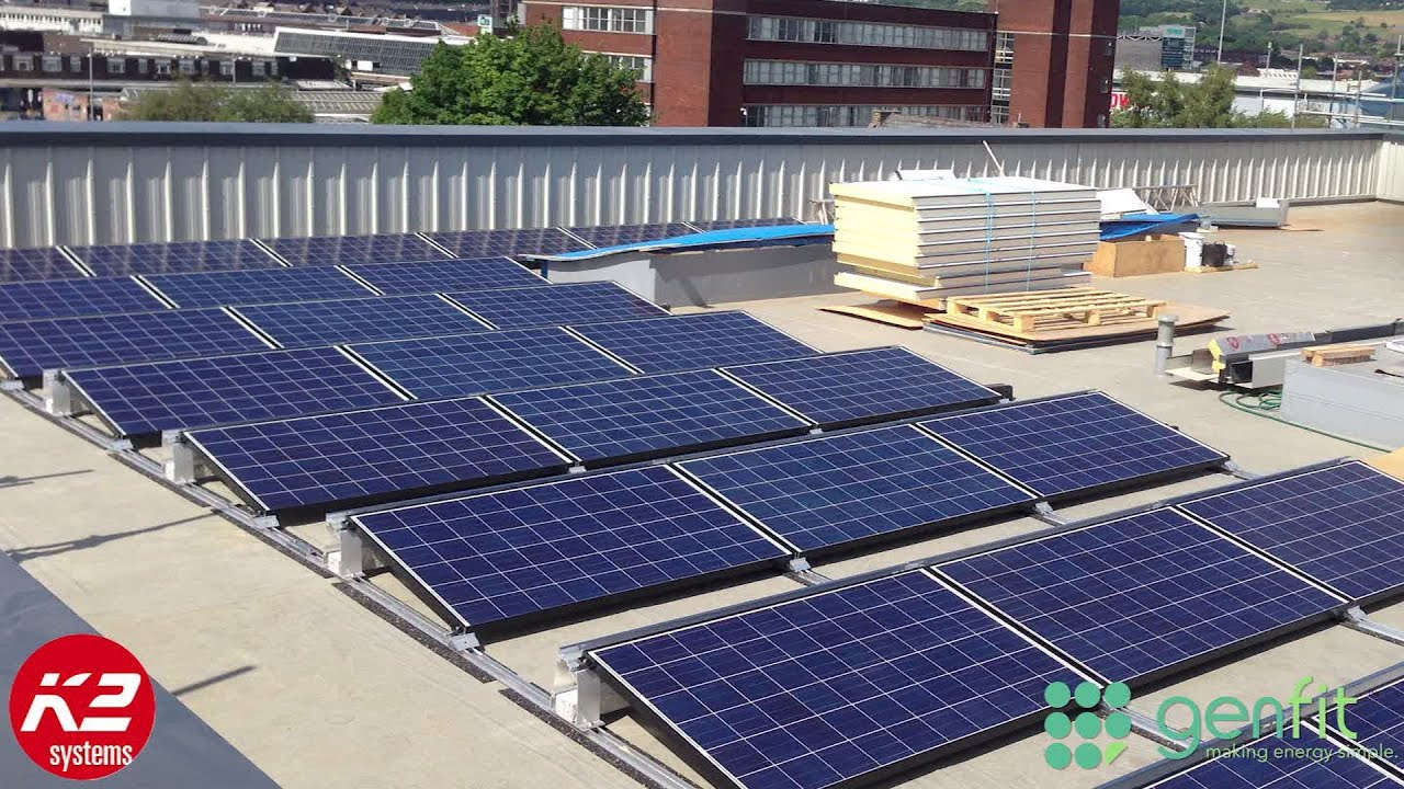 K2 Mounted Solar Pv System Bury College Youtube