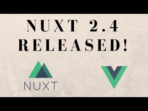 Nuxt 2 4 Test Drive in 2019 - TypeScript Support? Vue js