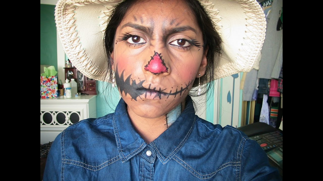 Scarecrow Halloween Makeup Tutorial!! - YouTube
