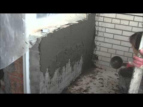 Цементно -  песчаная штукатурка по силикатным кирпичам