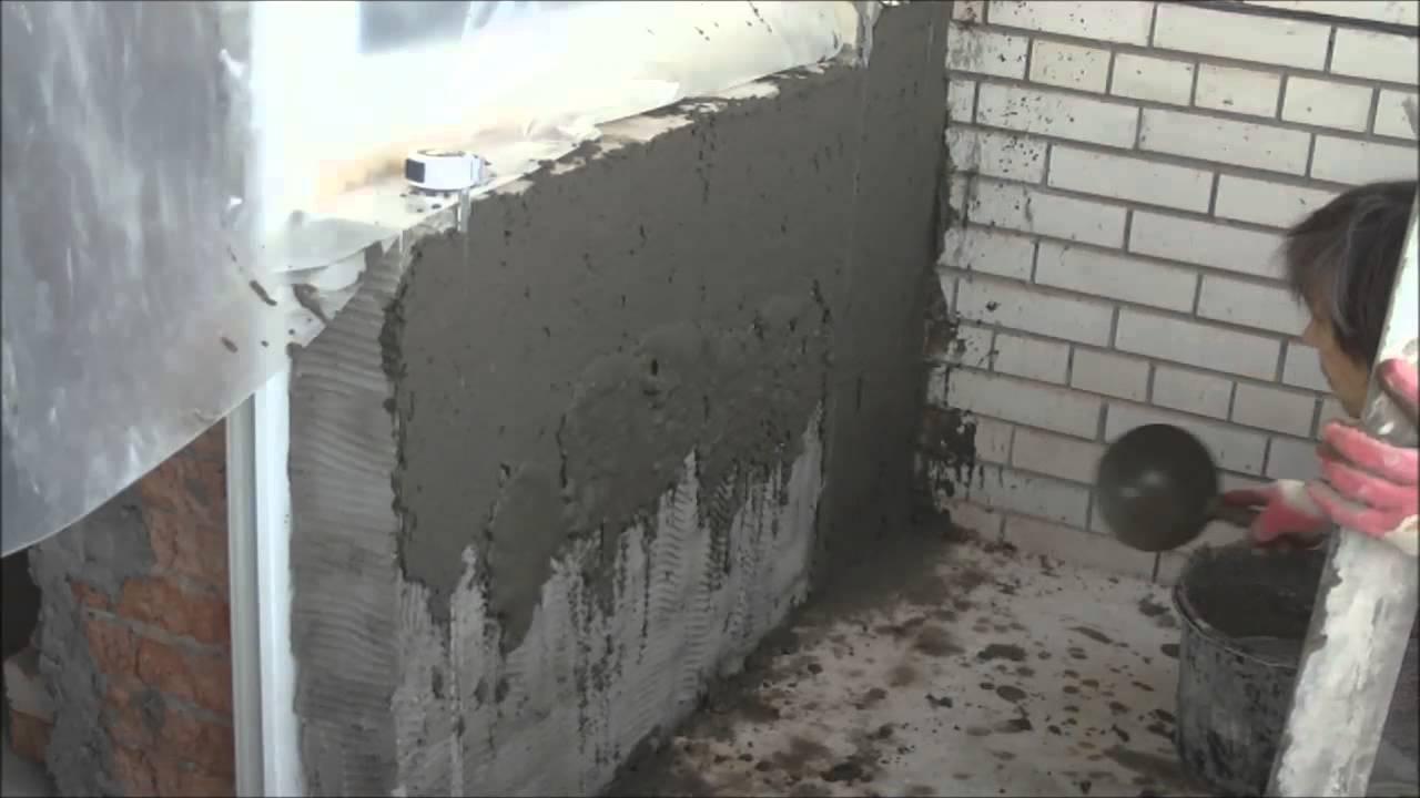 Цементно - песчаная штукатурка по силикатным кирпичам - yout.
