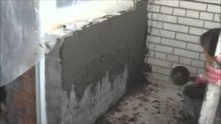 Цементно -  песчаная штукатурка по силикатным кирпичам(, 2015-03-16T17:08:42.000Z)