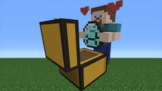 Minecraft Tutorial: How To Make A Diamond Chest Steve Statue