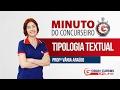 Minuto do Concurseiro   Tipologia Textual com a profª Vânia Araújo