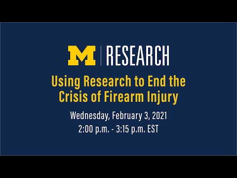 Using Research to End the Crisis of Firearm Injury