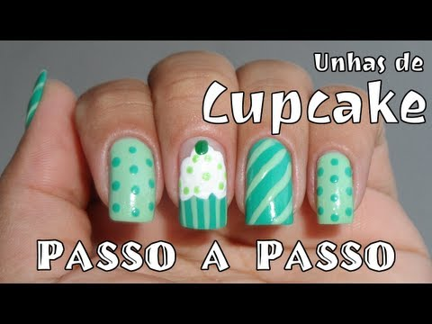 Como Fazer: Unha Decorada - Cupcake Verde TRAVEL_VIDEO