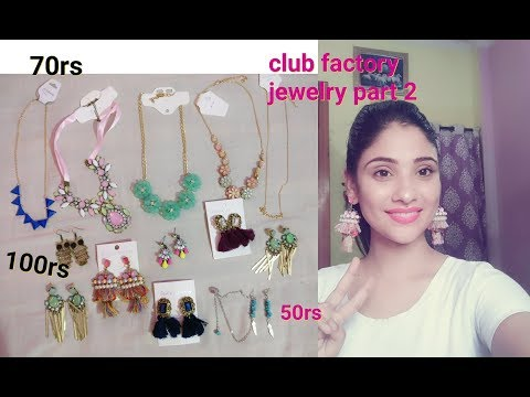 cheapest/ affordable jewelry || club factory haul part 2 || shy styles