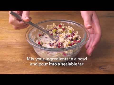 How to Make Pomegranate Pistachio Overnight Oats | Quaker