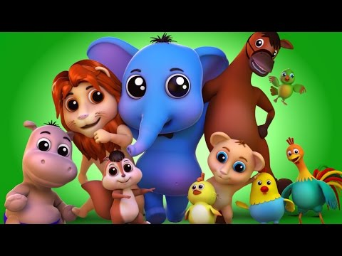 Animal Sound Video for Kids | Farm Animal Nursery Rhymes & S