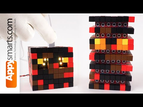 minecraft-magma-cube-made-from-magnetic-blocks---diy/crafts-project-3d-pixel-art-style