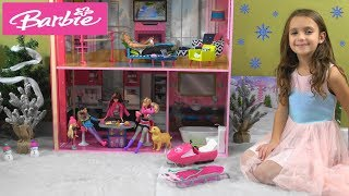 Barbie and Ken Winter Story with Skipper's Amazing NEW House and Barbie Sleds and Snow Scooter
