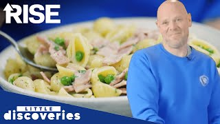 Tom Kerridge | Easy Peasy Ham And Pea Pasta | Little Discoveries