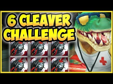 6 BLACK CLEAVER CHALLENGE ON THE CROC IS 100% DUMB! 6 CLEAVER RENEKTON CHALLENGE! League of Legends