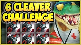 6 Black Cleaver Challenge On The Croc Is 100% Dumb! 6 Cleaver Renekton Challenge! League Of Legends
