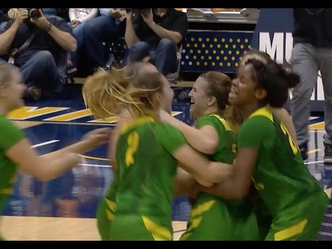 Highlight: Oregon women's basketball scores 8 points in final 11 seconds to beat Cal