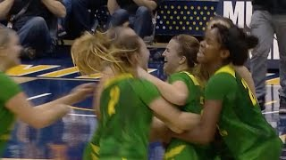 Highlight: Oregon women\'s basketball scores 8 points in final 11 seconds to beat Cal