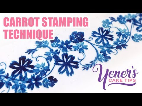 Simple CARROT STAMPING TECHNIQUE for Cake Decorating | Yeners Cake Tips with Serdar Yener