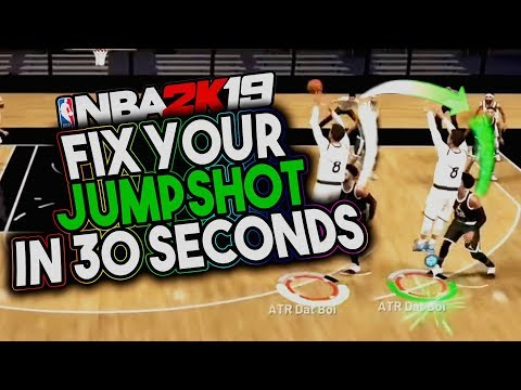 FIX YOUR JUMPSHOT IN 30 SECONDS - NBA 2K19