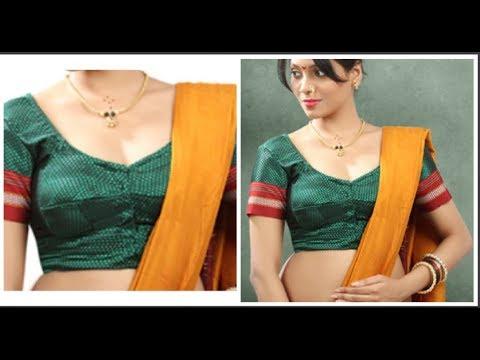 35069b69892c5 Double Katori Blouse Cutting   Stitching Very Easy To Make (DIY ...