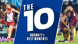 The 10: Best moments | Round 5, 2018 | AFL