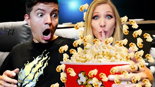 EXTREME Movie Theater Hide and Seek vs My Wife! - Challenge