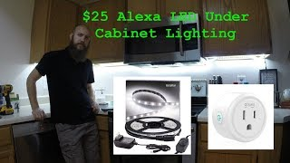 Alexa Powered LED Cabinet Lighting For Just $25