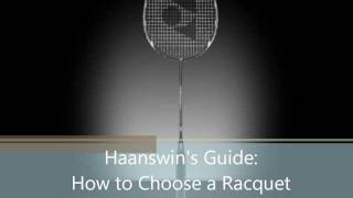 how to choose a badminton racquet strings tension