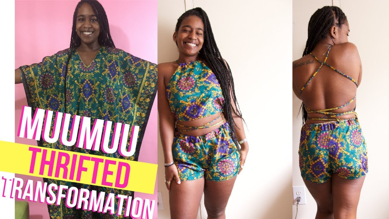 HOW ANULI MADE A 2 PIECE OUTFIT FROM A MUUMUU?! $6 Thrifted Transformation