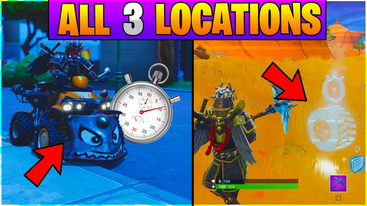 Fortnite All Vehicle Time Trial Locations All 3 Locations