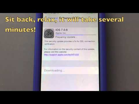 How to Update Apple iPhone 5/iPhone 5c/iPhone 5s to iOS 7.0.6 over Wi-Fi