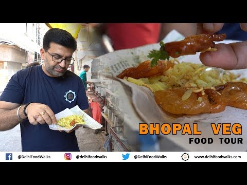 Bhopal Veg Food Tour - MUST EAT Dal Bafla + KESAR Jalebi + B