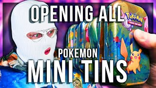 OPENING ALL POKEMON MINI TINS (EXTREMELY LUCKY)