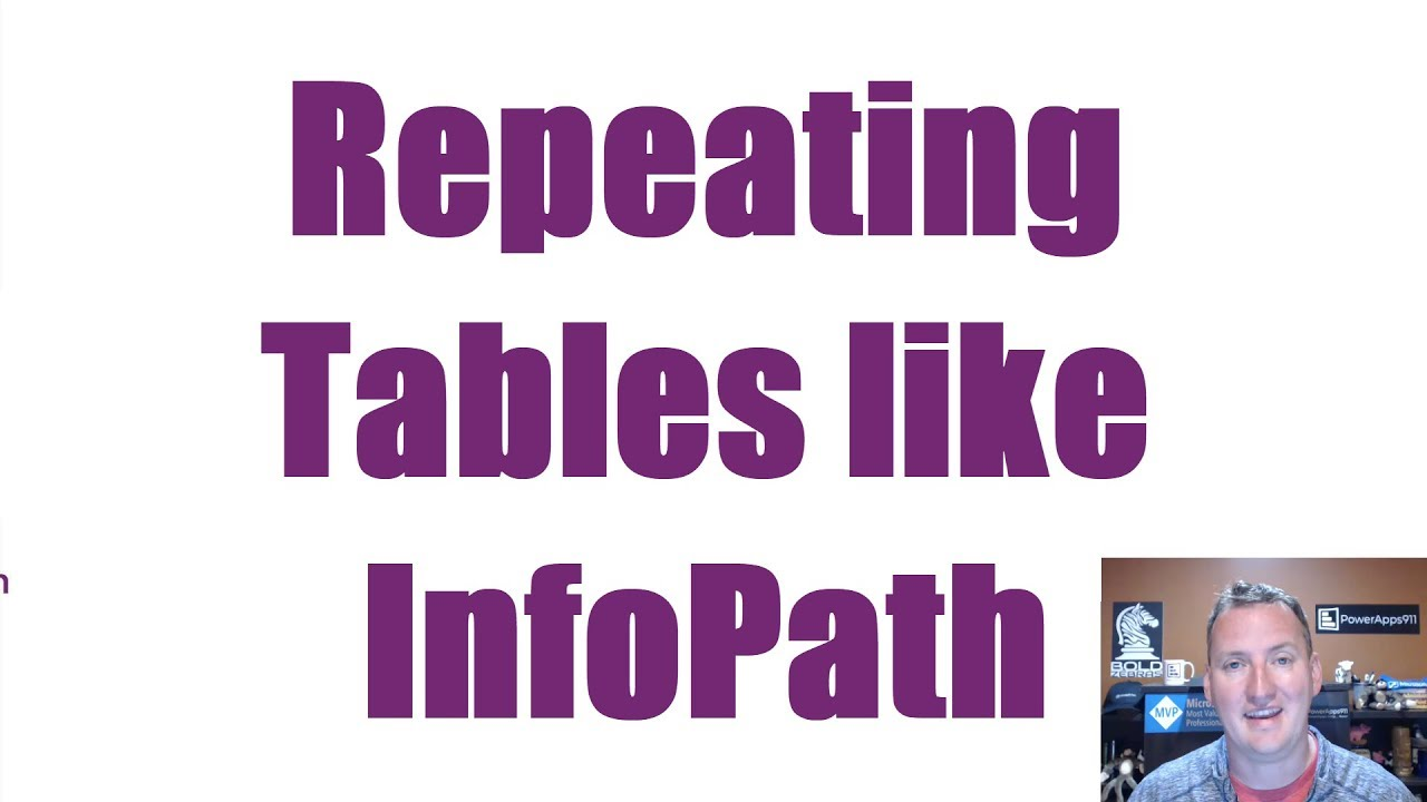 Create an Expense Report in Power Apps using Repeating Tables